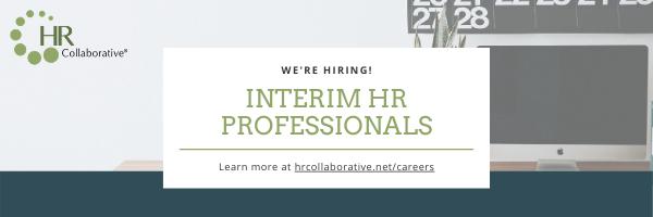 We're hiring interim HR professionals!